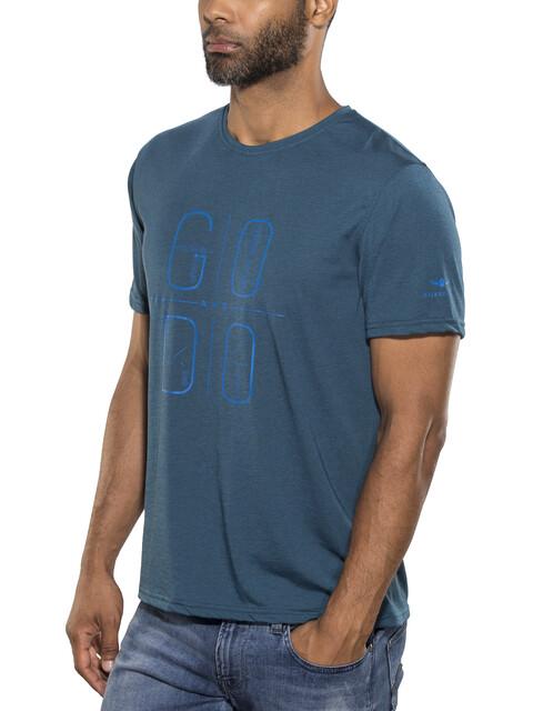 Kaikkialla Taisto Drirelease t-shirt Heren blauw/petrol